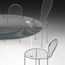 Junya Ishigami - Transparent Glass Table & Family Chairs