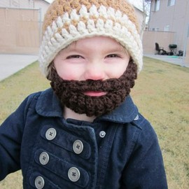 bylauradesign - Kids ULTIMATE Bearded Beanie Warm Brown