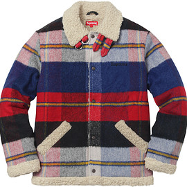 Supreme - Plaid Shearling Bomber
