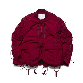 White Mountaineering - PRIMALOFT TAFFETA DRAWSTRING SHIRRING MA-1 - BURGUNDY