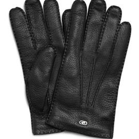 GUCCI - Classic Cashmere-Lined Leather Gloves