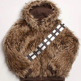 Marc Ecko - Ecko Star Wars Furry Choco Covered Chewie Reversible Mens Jacket
