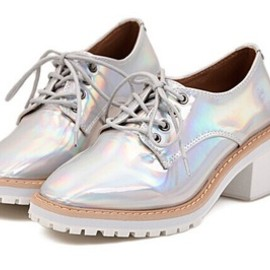 Hologram Heeled Oxfords