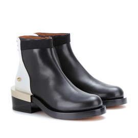 GIVENCHY - TWO-TONE LEATHER ANKLE BOOTS