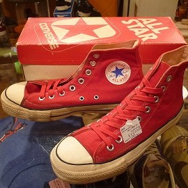 "converse - 「<used>80's converse ALLSTAR HI red""made in USA"" W/BOX size:US6/h(25cm) 10000yen」完売"