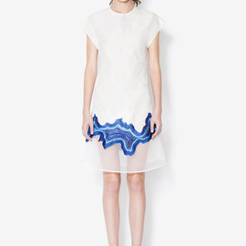 3.1 Phillip Lim - embroidered geode flounce dress