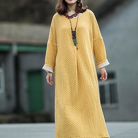 Cotton maxi dress - Cotton maxi dress, longsleeve dress, Tunic Dress, loose robes