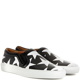 GIVENCHY - Printed leather slip-on sneakers