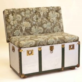 Recreate - The Suitcase Chair – Metal Trunk Khaki Paisley