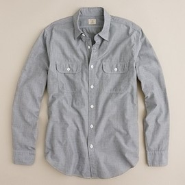 J.CREW - End-on-end utility shirt with pockets