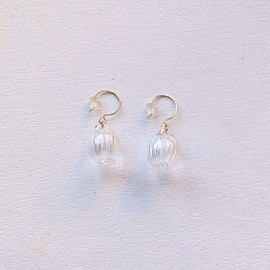 sirisiri - CLASSIC earrings SPHERE STRIPE