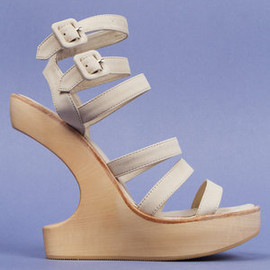 opening ceremony - Opening Ceremony Violet Cutout Wedge Sandals Profile Photo