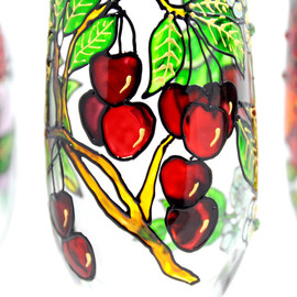 Luulla - Hand Painted Glass, Spring, Seasonal Collection