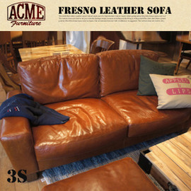 ACME - FRESNO LEATHER SOFA 3-Seater ACME FURNITURE
