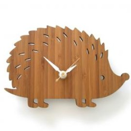 Bamboo Hedgehog Clock