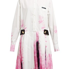 PRADA - SS2019 Tie-dye cotton shirtdress