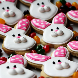 LoneStarsandStripes - easter bunny sugar cookies