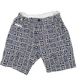 ENGINEERED GARMENTS - Long Beach Short-Tiki Cotton Jacquard-Navy