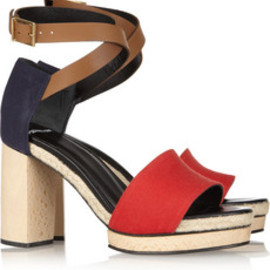 PIERRE HARDY - Leather and Canvas Sandals