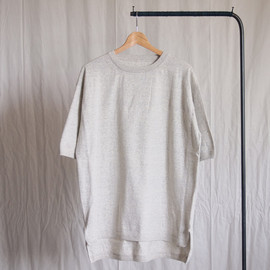 crepuscule - Knit T-Shirt Long #oatmeal