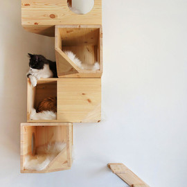 CatissaCatTrees on Etsy - Wooden Modular Cat House