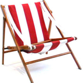 vico magistretti - triangle shape beach chair