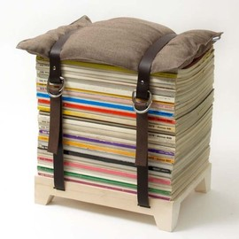 Magazine Stack Stool