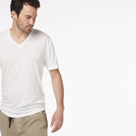 James Perse - CLEAR JERSEY V-NECK