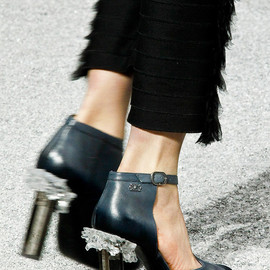 Chanel - crystal rock heels
