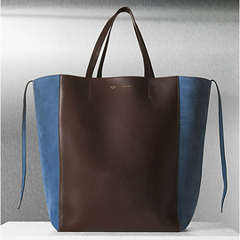 CÉLINE - CABAS PHANTOM LARGE IN CALFSKIN NAVY / BURGUNDY