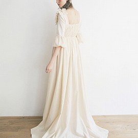 Palm wedding - Palm wedding Palm maison×hoshi トッププリーツのエンパイアードレス Toffee/トフィー Palm maison store