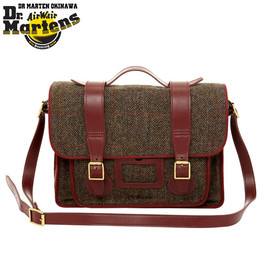"""Dr.Martens - School Satchel Bag Large """"Taupe+Cherry Red"""""""