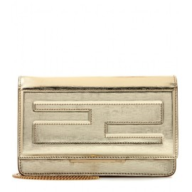 FENDI - Metallic leather shoulder bag
