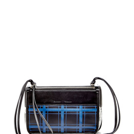 PROENZA SCHOULER - SS2015 Python, And Window Pane Shiny Calf Cruise Blue Z Crossbody