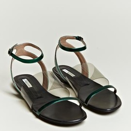 Dries Van Noten  - Women's Metallic Strap Sandals