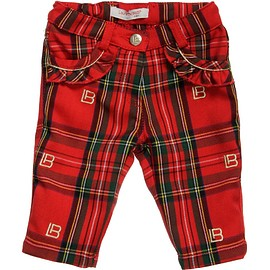 Laura Biagiotti Dolls - Girls Red Tartan Trousers