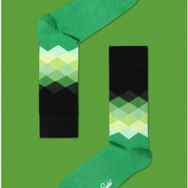 Happy Socks - Faded Diamonds Combed Cotton