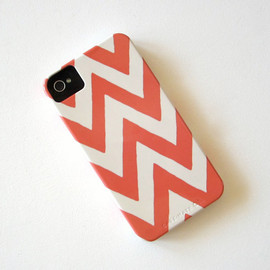 Luulla - Chevron PINK IPhone 4/4s case Pattern Geometric Arrows Modern Tribal redtilestudio