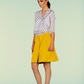 Fendi - Perforated A-line Cotton Skirt