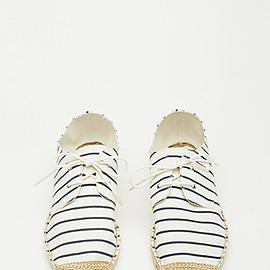 FOREVER 21 - Striped Lace-Up Espadrilles