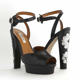 CARVEN - Jeweled Heel Platform