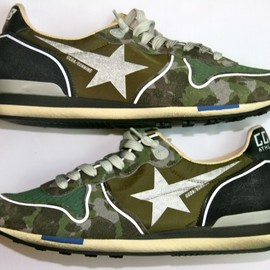 GOLDEN GOOSE - RUNNING SNEAKER MILITARY / CAMOUFLAGE