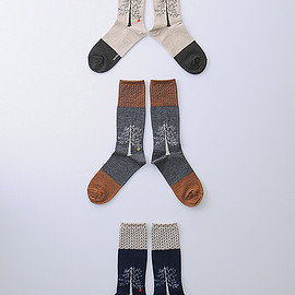 atelier naruse - wool ~ringo no ki~ middle socks
