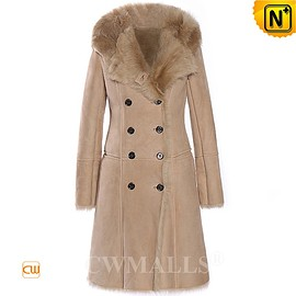 CWMALLS - London Custom Women Hooded Shearling Trench Coat CW618016 | CWMALLS.COM
