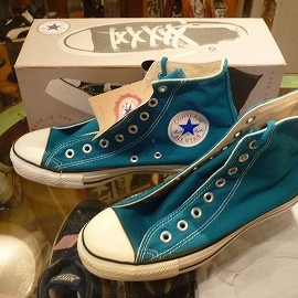 "converse - 「<deadstock>90's converse ALLSTAR HI bright blue moon""made in USA"" W/BOX size:US6/h(25cm)10000yen」販売中"