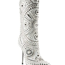 "Versace - ""Chelsea"" Embellished Stiletto Boot"