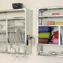 Wall-Mounted Steel Plate Rack