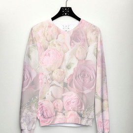 CSERA - Floral print Womens Sweater, Rose Jumper, Spring Fashion, CSERA