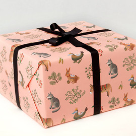 Clap Clap - Farm Animals Wrapping Paper - Peach -