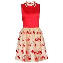 ALICE + OLIVIA - Cherry embellished dress